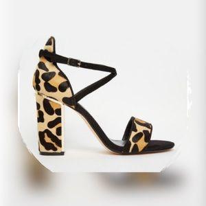 Dune London Leopard heels sandals sz 11